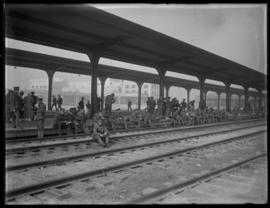 Troops at Union Station, Vancouver