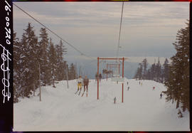 Chair Lift On Grouse Mountain, North Vancouver