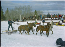 Winter carnival, 100 Mile House.