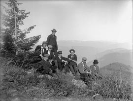 Group on Red Mountain, near Rossland.