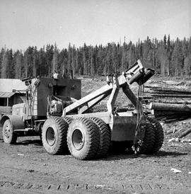 Clearwater Timber Co. truck; yarder operation
