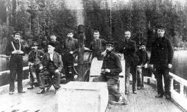 Crew of the Steam Schooner Mischief, first West Coast mail boat