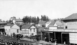 Maynard Photographic Gallery and Boot and Shoe Store; corner of Douglas and Johnson Streets, Victoria