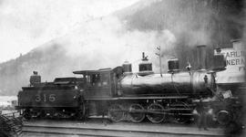 Canadian Pacific Railway Engine No. 315 At Rogers Pass.