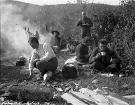 Lunch camp on bar of Finlay River.
