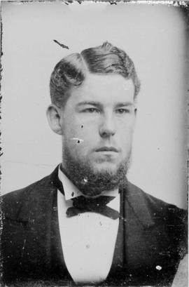 A tintype portrait of an unidentified young man; it may be Alexander Kenneth Munro.