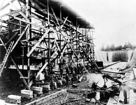 Construction Of The Dry Dock, Esquimalt.