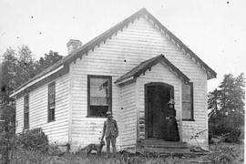 The first schoolhouse in Sooke.