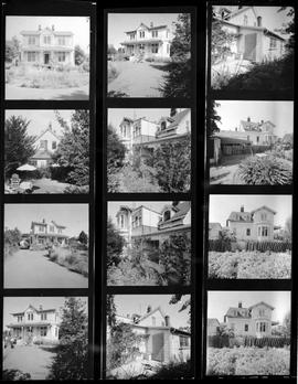 Richard Carr residence, 207 Government St., Victoria; contact sheet of 12 views.
