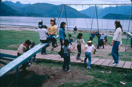 Ahousaht children playing