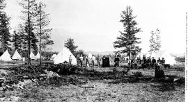 Fort Steele, North West Mounted Police camp.