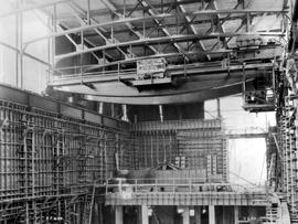 """Photograph No. R.P. 250 Ruskin development, view of the interior of the powerhouse, taken f..."
