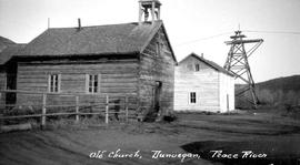 """Old church, Dunvegan, Peace River"""