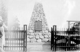 Cairn dedicated during the David Thompson memorial celebrations
