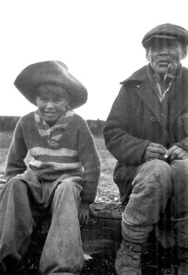 Old Guichon and and a young boy at Towdystan.