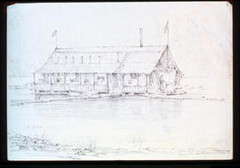 "Drinkwater's ""Ark"" At S.[South] End Central Lake - This Was Built By Split Cedar -..."