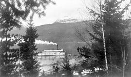 Mount Halcyon and the SS Minto, Halcyon Hot Springs, Arrow Lakes, BC.