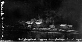 Axel Spangberg's logging camp on the Gardner Canal.