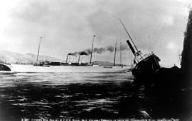 Wreck of the SS Beaver at Prospect Point in Stanley Park in Vancouver; Royal Mail steamer Empress...