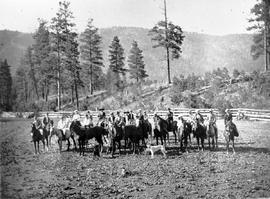 Kamloops Museum photo; participants in a paper chase held at Westwold