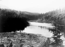 """Lake, reservoir or river near the Nanaimo Dam, 5th Sep 1930"", No. 62."