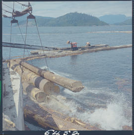 Dumping Of Logs, Alliford Bay Queen Charlotte Islands