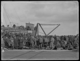 Chinese Labour Corps boarding ship at William Head