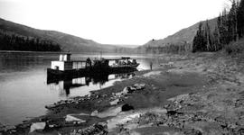 Ferry at Taylor Flats, Peace River.