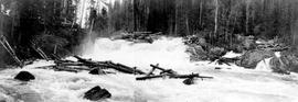 """Brenda Falls at the outlet of Sugar Lake, site for storage dam, Shuswap River"""
