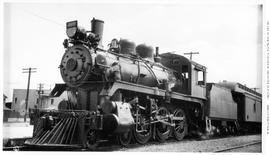 4-6-0 Esquimalt and Nanaimo [E & N] No. 465, 3/4 left . Original round number plate on smoke ...