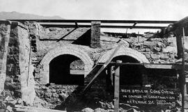 """New style of coke ovens in course of construction at Fernie BC""."