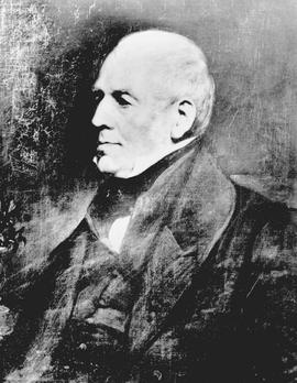 Dr. Archibald Menzies, 1754 to 1842, surgeon on board the Prince of Wales, and Captain George Van...