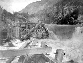 Illecillewaet; Original Log Crib Dam Used By Revelstoke.