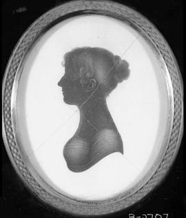 A silhouette of Mrs. Anne Sarah Bushby, nee Stedman; see B-02708.