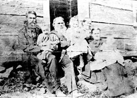 Mr. and Mrs. Donald McKenzie, with their daughter Eliza, her husband John H. Scafe, and their children; in the Highlands near Victoria.