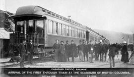 """Canadian Pacific Railway, arrival of the the first through train at the seaboard of British..."
