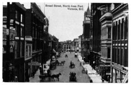"""Broad Street, north from Fort Street, Victoria."""