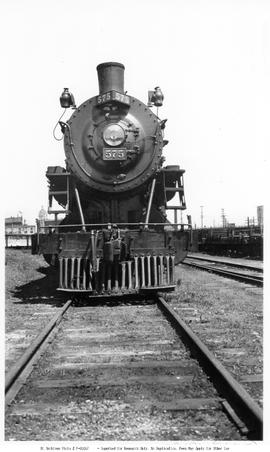 4-6-0, No.575, 10-Wheeler. Vertical Format. Front View. Closeup. Good Detail. Vancouver