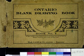 Blank Ontario Drawing Book No. 1. Not titled.
