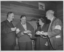 From left to right: W.C. Mainwaring, Chairman, Advisory Council, Provincial Civilian Protection C...