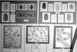 Exhibit of artwork by First Nations children at the Provincial Museum, Victoria.