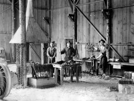 Blacksmiths At The Ring And Merrill Logging Operation, Theodosia Arm