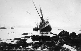 """Al-ki wrecked on Point Augusta, Alaska, 1917."""