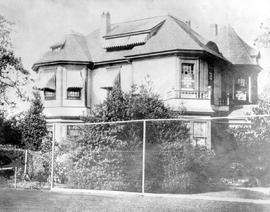 Halwyn, the home of the late Mrs. Justice and Mrs. P.A. Irving; 622 Cook Street, at the corner of...