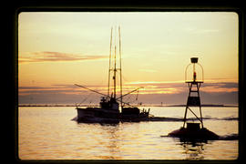 Fishboat Off Roberts Bank At Sunset