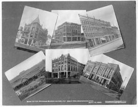 """Public buildings and business blocks before the great New Westminster fire""; the fire ..."