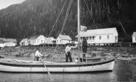 Sail boats used for fishing on the north coast of BC.