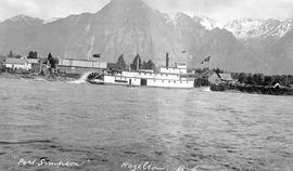 The SS Port Simpson at Hazelton on the Skeena River.