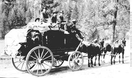BC Express Co. stagecoach on the Cariboo Road