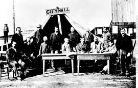 The first Vancouver City Council meeting after the great fire of 13 June 1886